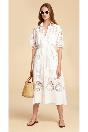 31744700d9 Guayabera Soft Linen Shirt-Dress by Miguelina at ORCHARD MILE