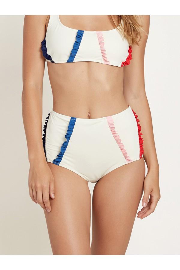 Morgan Lane Lusiana Bikini Bottom In Ivory