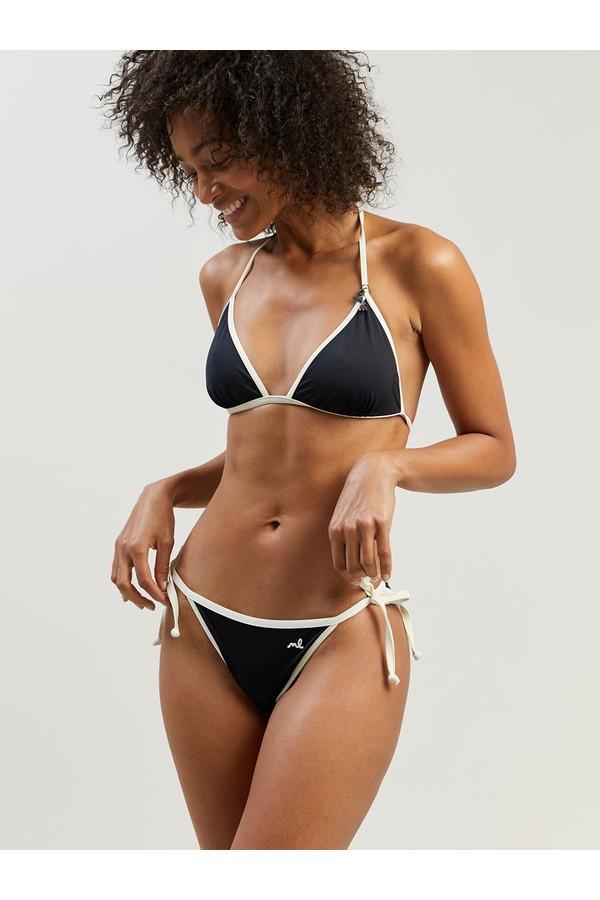 Morgan Lane Taylor Bikini Set In Noir/Ivory