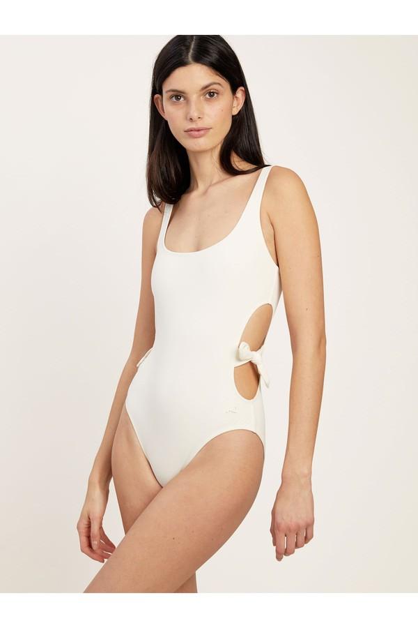 Morgan Lane Richie One Piece Swimsuit In Cream