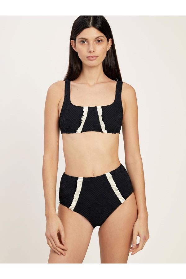 Morgan Lane Lusiana Bikini Set In Rose Jacquard
