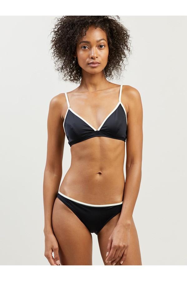 Morgan Lane Rianne Bikini Set In Noir/Ivory