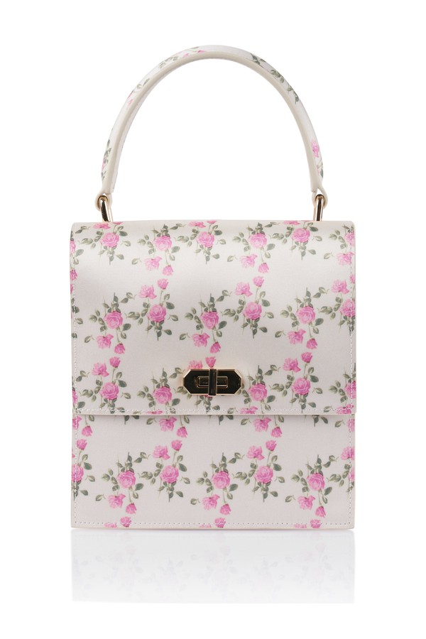 894c83cfbb631 Mini Satin Lady Bag In Pink Floral by Neely & Chloe at ORCHARD MILE
