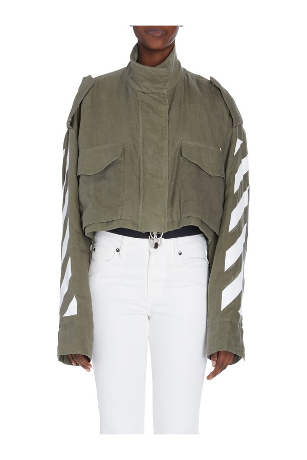 d426916777e77 Diagonal Cropped M65 Military Jacket by Off-White at ORCHARD MILE