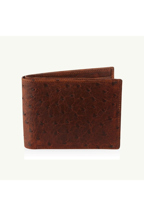 9657f94a1045 Billfold Wallet   Antique Saddle Ostrich by Okapi at ORCHARD MILE