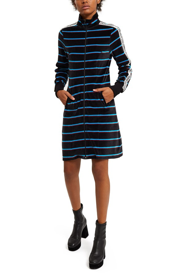 26e4f4d5a1d5 Striped Velour Track Dress by Opening Ceremony at ORCHARD MILE