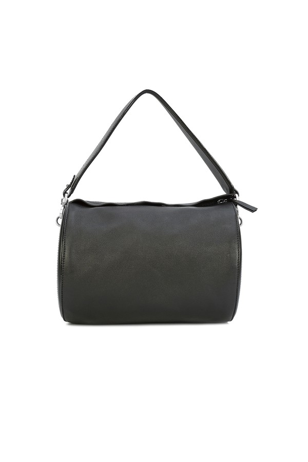 2f006f7b1124 Black Leather Medium Battery Bag by Oscar de la Renta at ORCHARD MILE