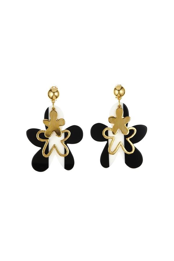 scribble beaded fish earrings - Black Oscar De La Renta Gy4x3p