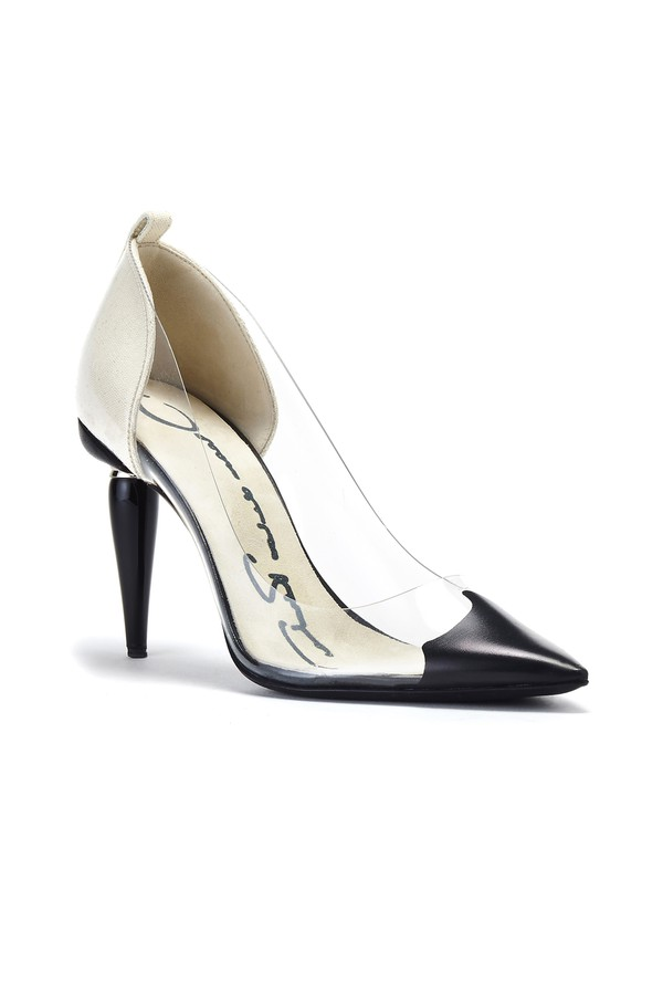 65d3704eca7c Black-Dipped Pvc Mariacarla Pumps by Oscar de la Renta at ORCHARD MILE