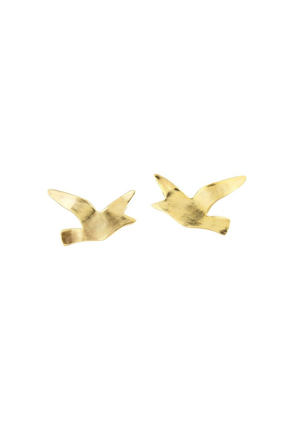 Oscar De La Renta seagull earring - Metallic 96hR0QBJ