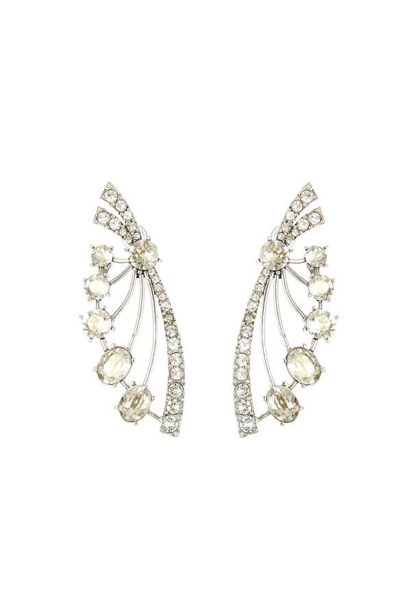 39fd4f947 Crystal Fan Earrings by Oscar de la Renta at ORCHARD MILE