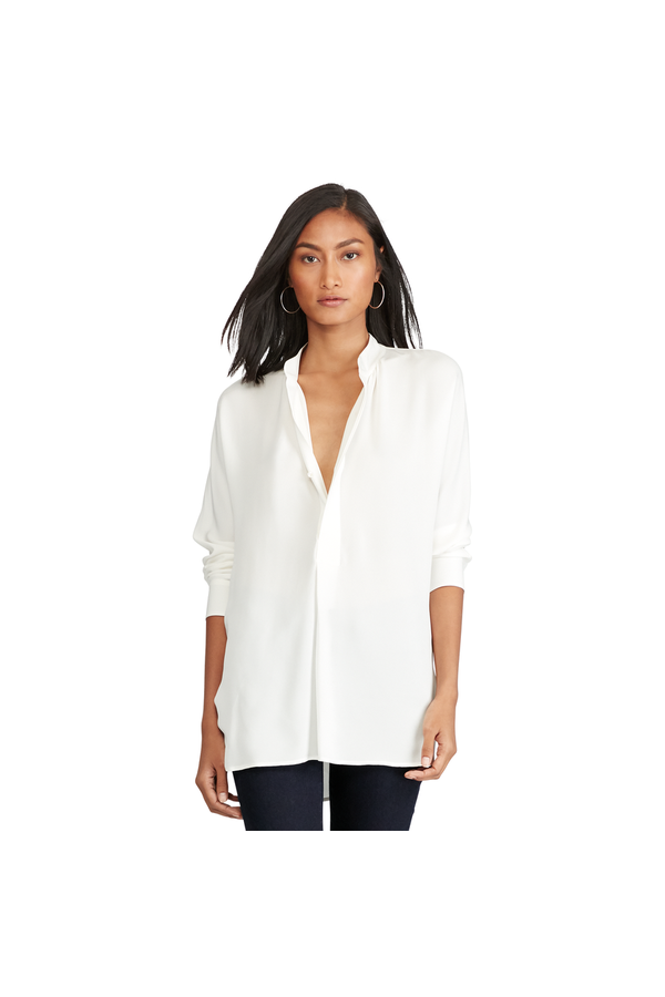 dd1eca79f5705c Silk Georgette Shirt by Polo Ralph Lauren at ORCHARD MILE