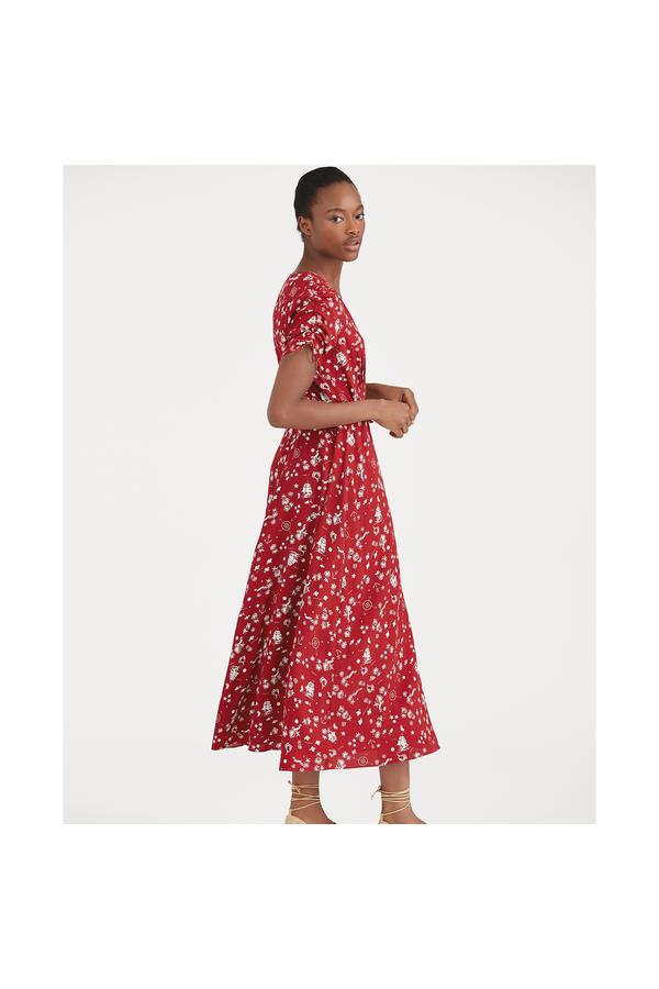 Polo Ralph Lauren. Print Crepe Wrap Dress