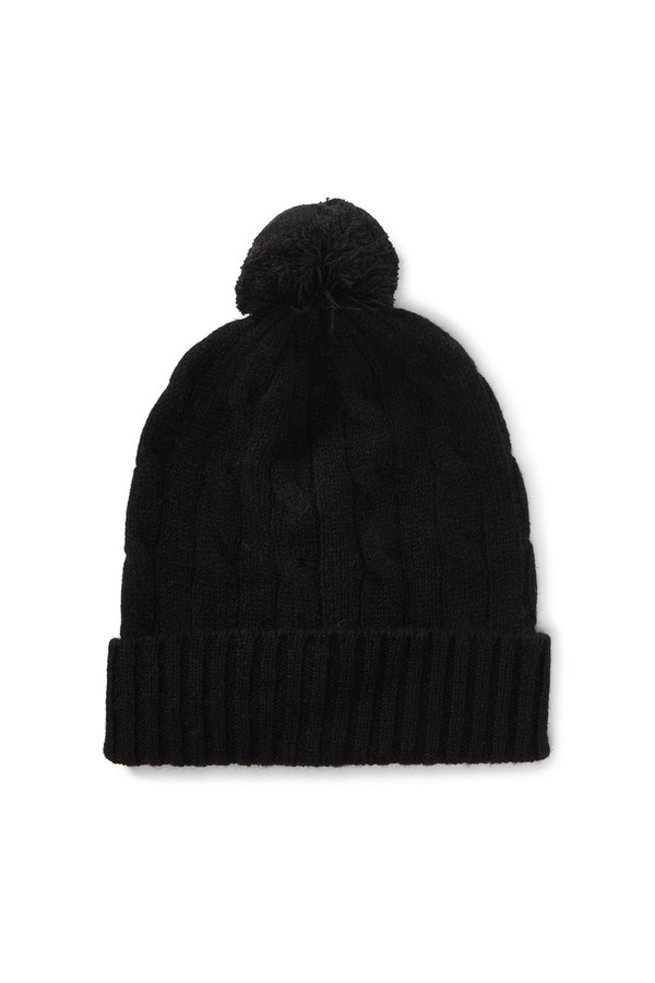 Cable-Knit Cashmere Beanie by Polo Ralph Lauren at ORCHARD MILE c1d47163709