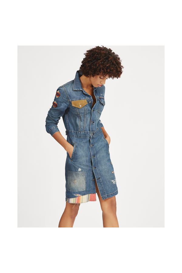 395b08dc1c8 Embroidered Denim Dress by Polo Ralph Lauren at ORCHARD MILE
