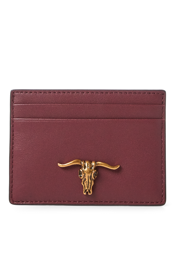 64aa9a0a080d Steer-Head Leather Card Case by Polo Ralph Lauren at ORCHARD MILE