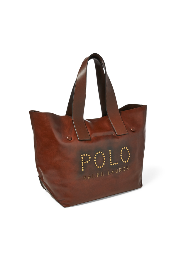 d021fca7c4b3 Studded Leather Polo Tote Bag by Polo Ralph Lauren at ORCHARD MILE