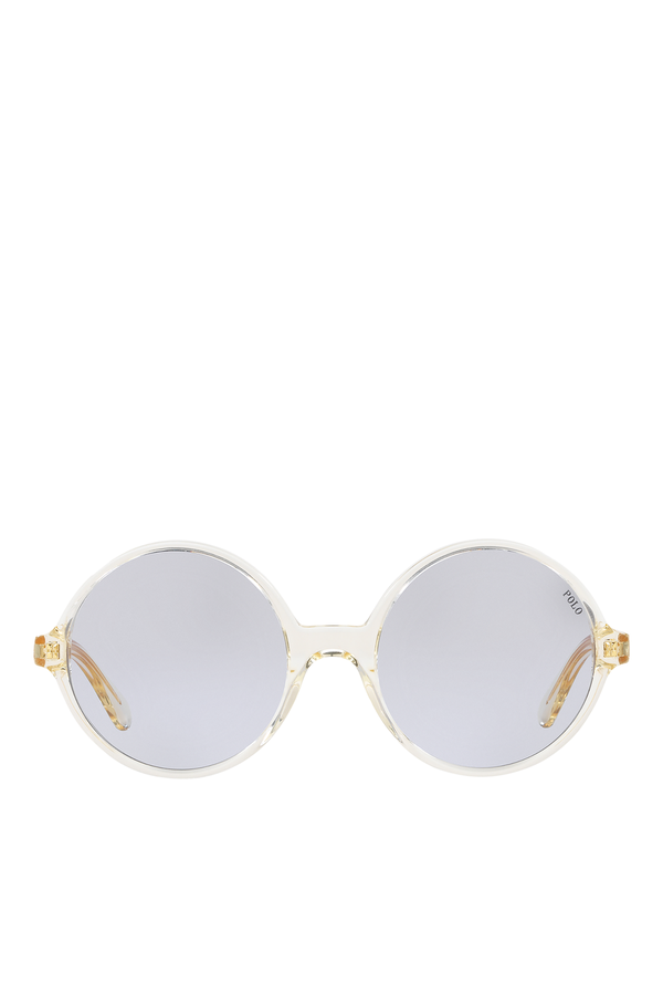 2ef93bb31d9 Oversize Round Sunglasses by Polo Ralph Lauren at ORCHARD MILE