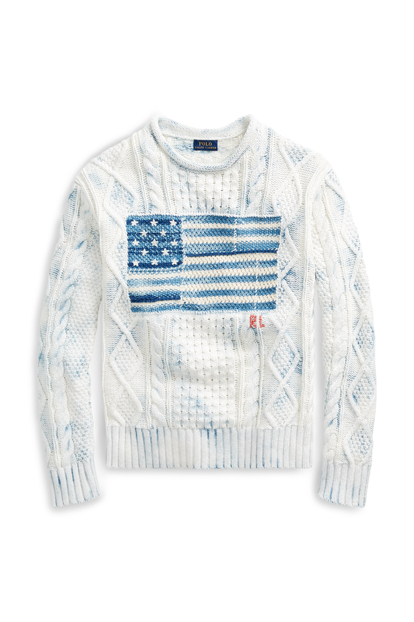 b68e5602d Indigo Flag Cotton Sweater by Polo Ralph Lauren at ORCHARD MILE