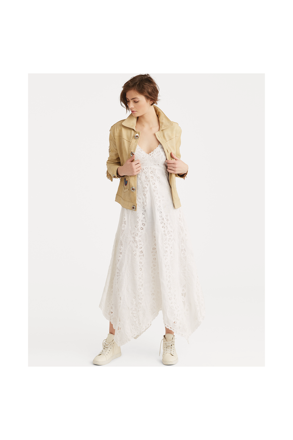 1f2fab2b8b191a Linen Eyelet Maxidress by Polo Ralph Lauren at ORCHARD MILE