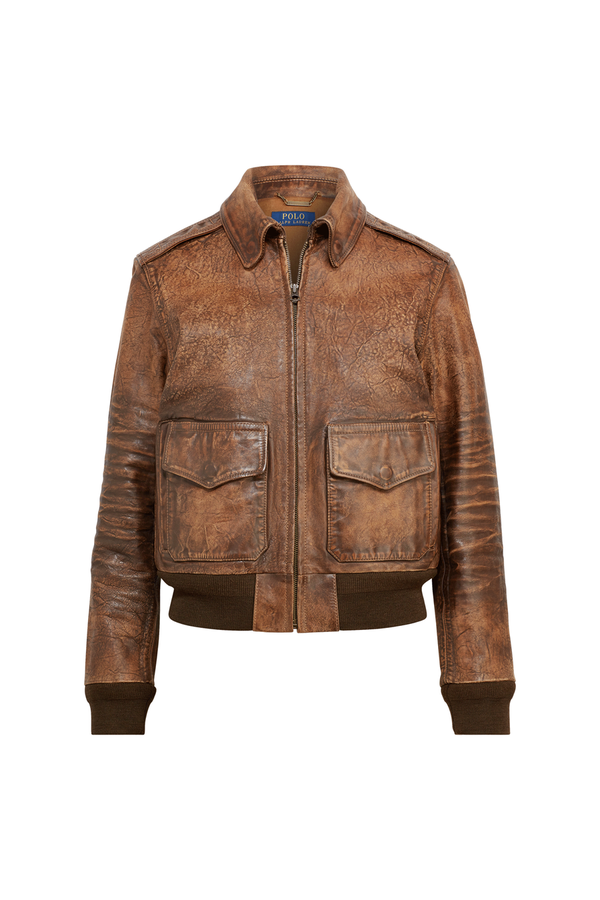 4217907ea Leather M41 Jacket. Brown Leather Bomber Jacket by Polo … Polo Ralph Lauren.