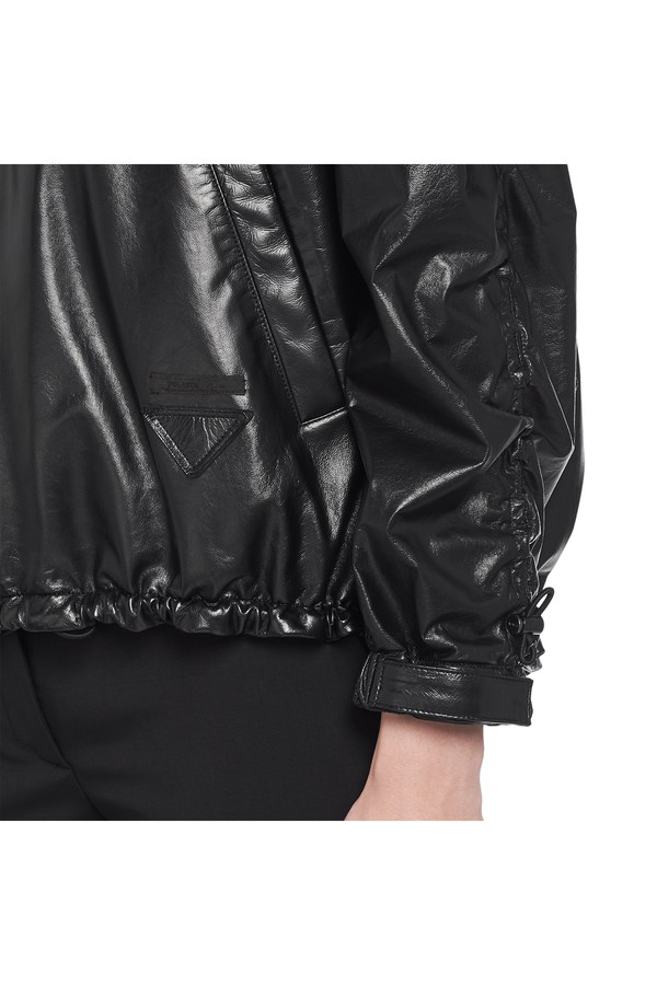 8f8011b094 Foil Nappa Leather Bomber Jacket
