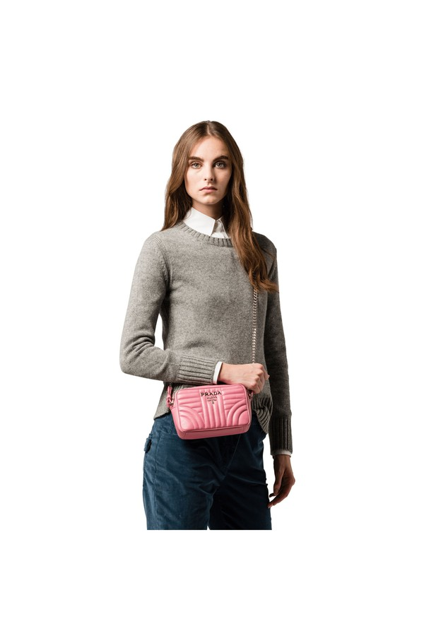 3427407881 Prada Diagramme Leather Cross-Body Bag by Prada at ORCHARD MILE