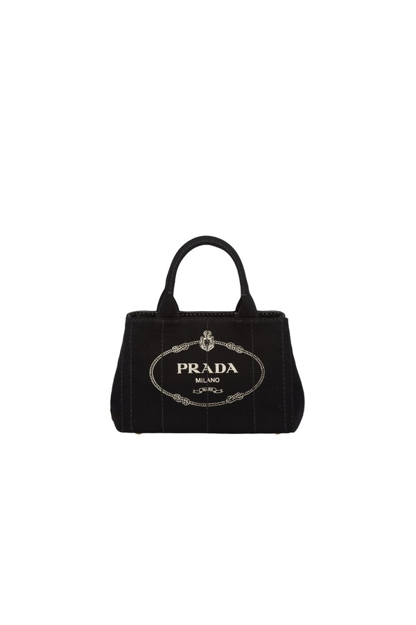 dcf0110274c6 Fabric Printed Tote by Prada at ORCHARD MILE