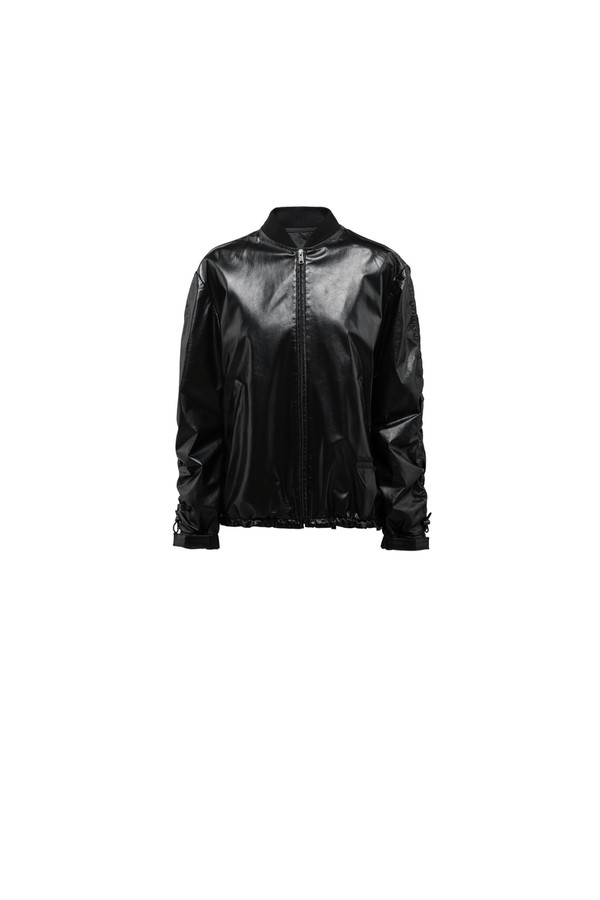 superior quality new specials outlet Foil Nappa Leather Bomber Jacket