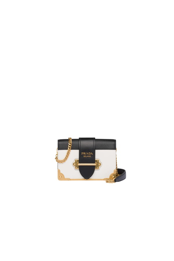 e96be075bfdd31 Prada Cahier Calf Leather Bag by Prada at ORCHARD MILE
