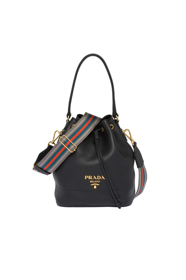 a51d7ee85e8fe7 Leather Bucket Bag by Prada at ORCHARD MILE
