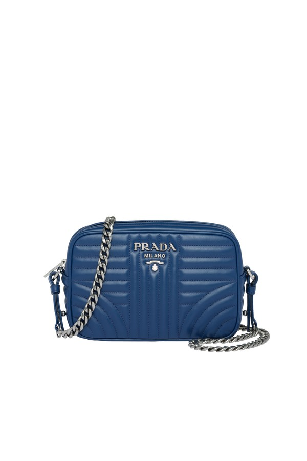 04a8cfd6bc86b Prada Diagramme Leather Cross-Body Bag by Prada at ORCHARD MILE