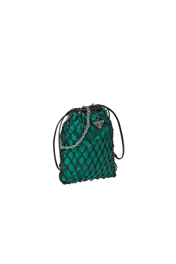 4c1febef8bd6 Mesh And Satin Clutch by Prada at ORCHARD MILE