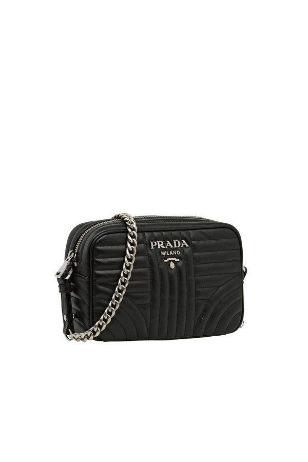 02349abdd3e1 Prada Diagramme Leather Cross-Body Bag by Prada at ORCHARD MILE