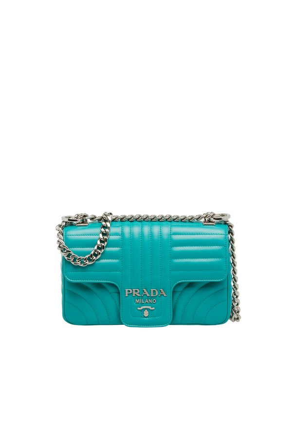 f3a2b26642a09 Prada Diagramme Leather Shoulder Bag by Prada at ORCHARD MILE
