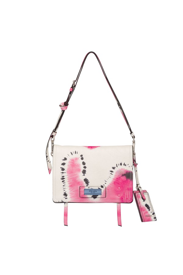 ce8e9c38b8d2 Prada Etiquette Printed Leather Bag by Prada at ORCHARD MILE