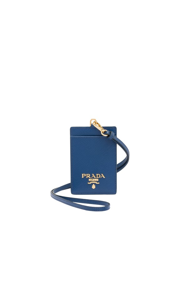 fbdb71b786ac Leather Badge Holder by Prada at ORCHARD MILE