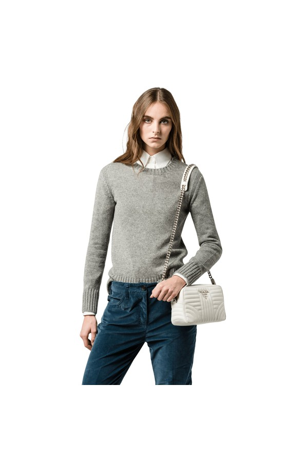 d091d954a75e Prada Diagramme Leather Cross-Body Bag by Prada at ORCHARD MILE