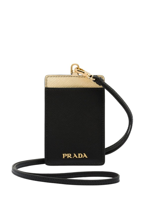 d9a64f2aa7ba Saffiano Badge Holder by Prada at ORCHARD MILE