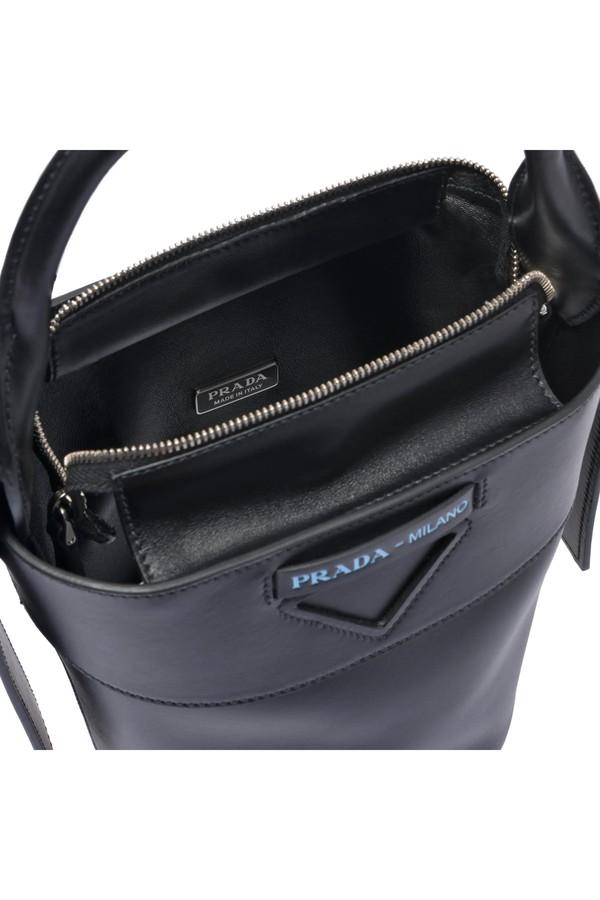 ca549d109b Prada Ouverture Leather Bucket Bag