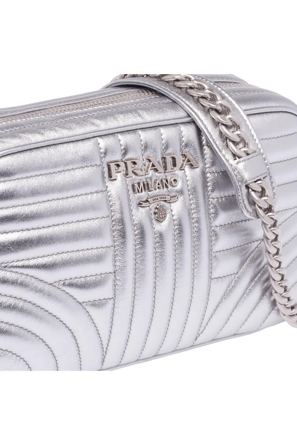 74e9ca5f338d Prada Diagramme Leather Shoulder Bag by Prada at ORCHARD MILE