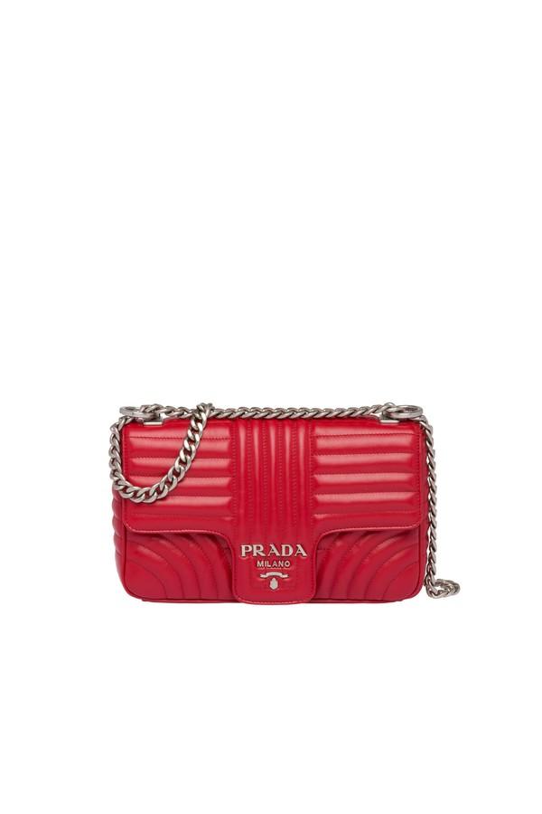 d52ef5e784f3 Prada Diagramme Leather Shoulder Bag by Prada at ORCHARD MILE