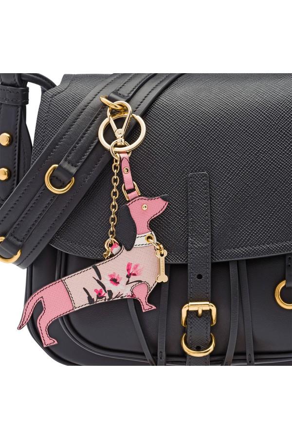Prada Saffiano Leather Keychain Trick e2aZy0S4