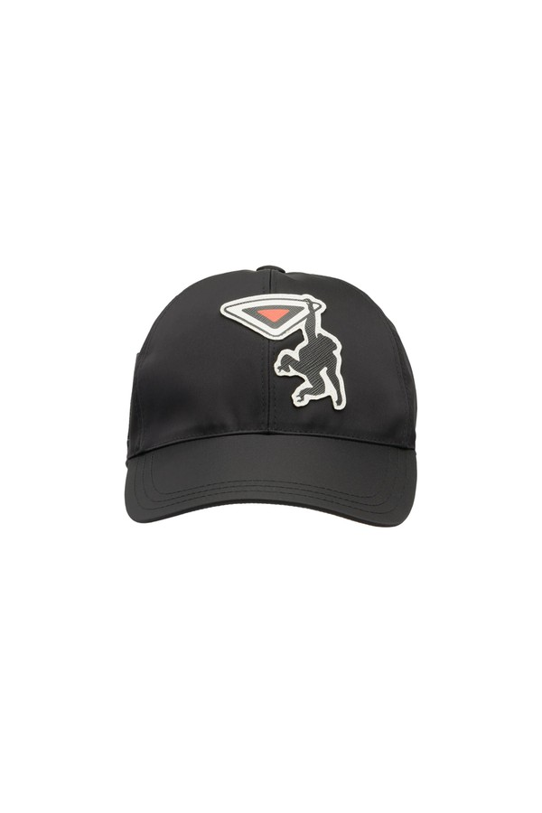 Nylon Baseball Cap With Saffiano Leather Logo by Prada at ORCHARD MILE 006ad1ef171