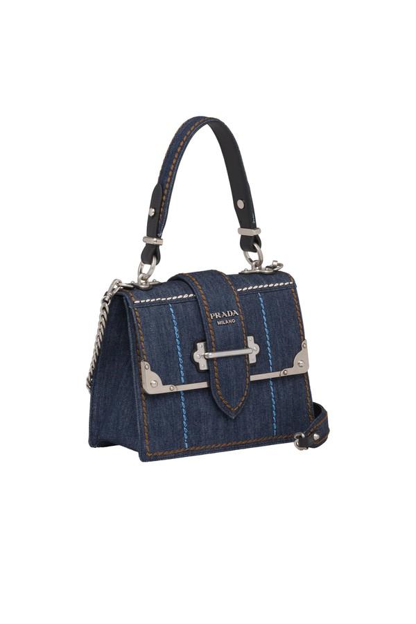 a0ab3d0dd039 Prada Cahier Denim Handbag by Prada at ORCHARD MILE