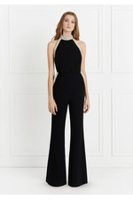 670fe3542ac1 Elinor Pearl-Detail Halter Stretch-Crepe Jumpsuit by Rachel Zoe at...
