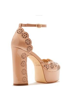 d2cc660877fe Rachel Zoe Jenelle Laser-Cut Patent Leather Peep-Toe Platform Sandals Low  in Stock