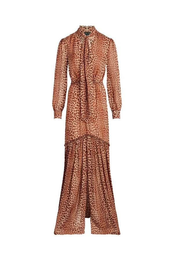 5a63774164fd Verushka Leopard Printed Silk-Chiffon Maxi Dress by Rachel Zoe at...