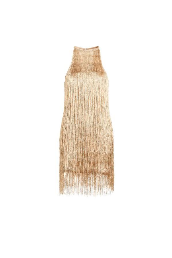 dfd3bdfd9e Nova Metallic Fringe Mini Dress by Rachel Zoe at ORCHARD MILE