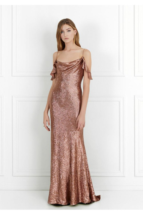 Cecilia Fluid Sequin Gown by Rachel Zoe at ORCHARD MILE